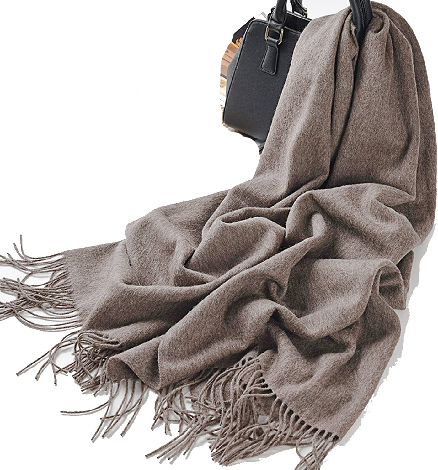 CCAILIS Ladies Autumn And Winter Scarf Wild Small Fresh Young Long Section Thickening Outdoor Warm Shawl,BrownOneSize