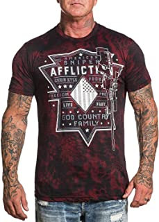 Chris Kyle Affliction Rifleman Short Sleeve Fashion Graphic T-Shirt for Men