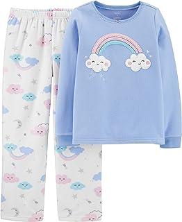Girls' 2-Piece Fleece Pajama Set (5, Periwinkle/Rainbow...