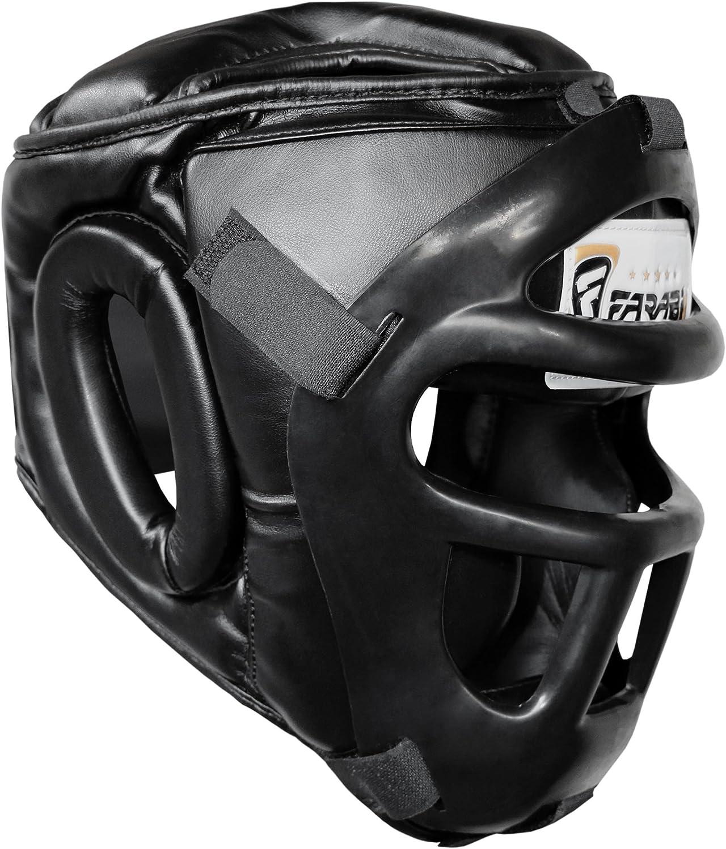 Farabi Sports Guardia Protector de Cabeza Cara de Ahorro de Casco con la Cara Frontal extraíble Grill