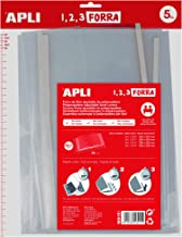 APLI 16915 - Forro de libros con solapa ajustable PP 295 mm 5 u.