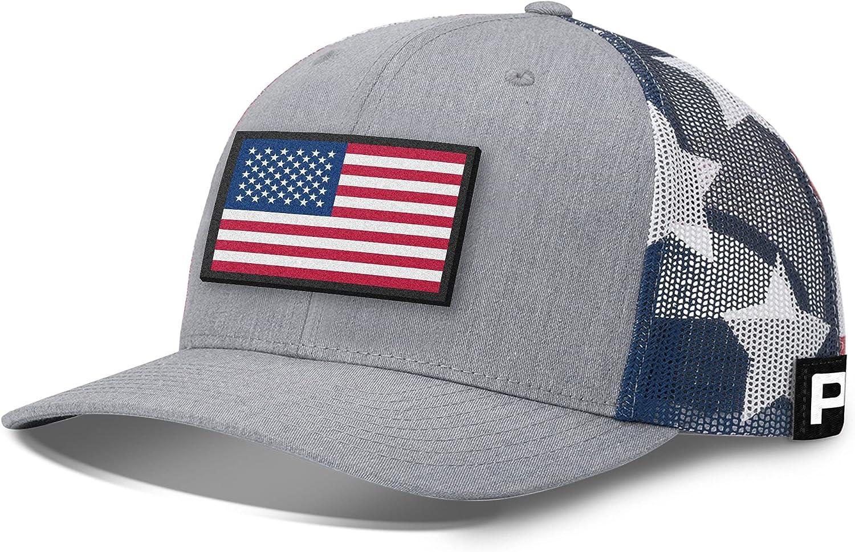Printed Kicks USA Flag Patch Back Mesh Hat American Flag Baseball Caps