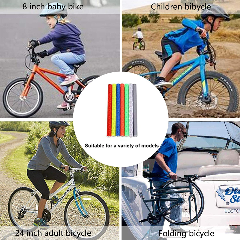 Coolsheep Bicycle Spoke Reflector Bike Spoke Skins Wraps Wheel Decoration Reflective Warning Strip for BMX MTB Kids Road Mountain Bike