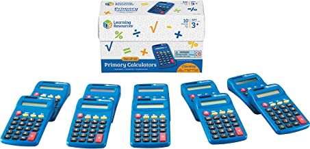 $36 » Learning Resources Primary Calculator, Basic Solar Powered Calculators, Teacher Set of 10 Calculators, Ages 3+
