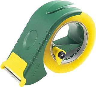 Prosun 2 Inch Packing Tape Gun Dispenser, Width-Adjustable Box Sealer, Lightweight Ergonomic Industrial Heavy Duty Tape Cutter for Carton, Packaging and Box Sealing, Green
