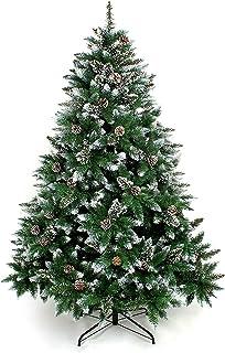 comprar comparacion Yorbay - Árbol de Navidad Artificial Natural de Blanco Nevado, 180cm 930 Puntas Incluye Las Piñas y Soporte Metal, para De...