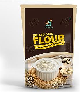 Leanbeing Rolled Oats Flour (1Kg) Fine Oats Flour [All Natural, Nutritious, Fiber-Rich Gluten Free Oats Bran Atta]