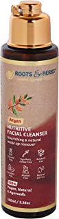 Roots & Herbs Ayurvedic Natural Treatment 100% Vegan No Paraben Nutritive Argan Facial Cleanser for Men and...