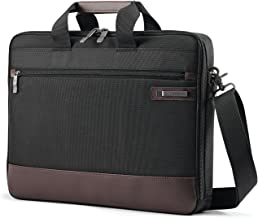 Samsonite Kombi Slimbrief Briefcase, Black/Brown