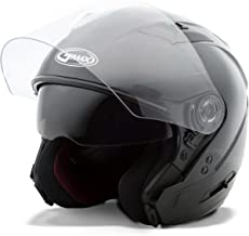 GMAX OF77 Mens Open Face Street Motorcycle Helmet - Black Large
