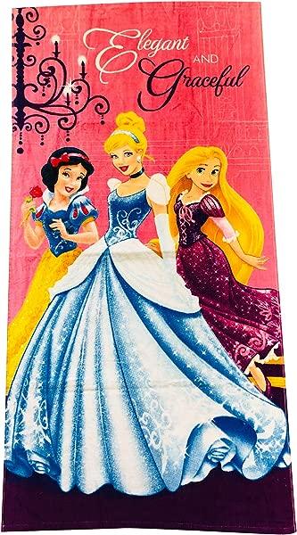 KOMARKIDS Princess Girls Elegant And Graceful Pink Towel