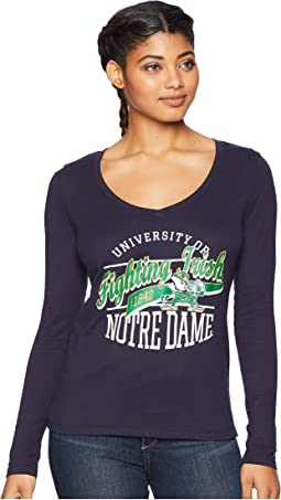 Notre Dame Fighting Irish Long Sleeve V-Neck Tee