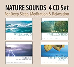 NATURE SOUNDS 4 CD Set - Ocean Waves, Forest Sounds, Thunder, Nature Sounds with Music for Deep Sleep, Meditation, & Relax...