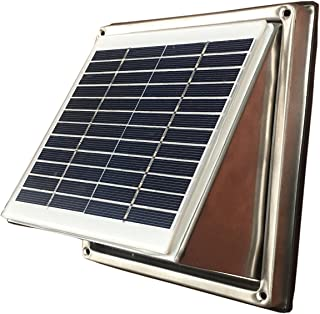 Stainless Steel Solar Vent Fan Ventilator Wall Extractor 135CFM BRUSHLESS DC Motor (1)