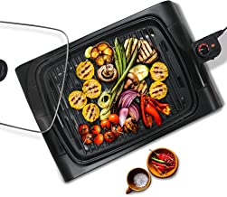 Maxi-Matic EGL-6501 XL Indoor Electric, Nonstick Grilling Surface, Faster Heat Up, Ideal for Meat Fish, Vegetables & Low-Fat Meals, Easy To Clean Design, 16