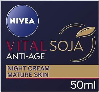 NIVEA Vital Soja Anti-Age Moisturising Night Cream, formulated with Soy Extract for Mature Skin 50ml