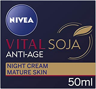 NIVEA Vital Soja Anti-Age Moisturising Night Cream, formulated with Soy Extract for Mature Skin 50ml