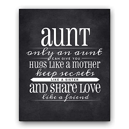 Aunt Gift Quote Sign Chalkboard Print Unique