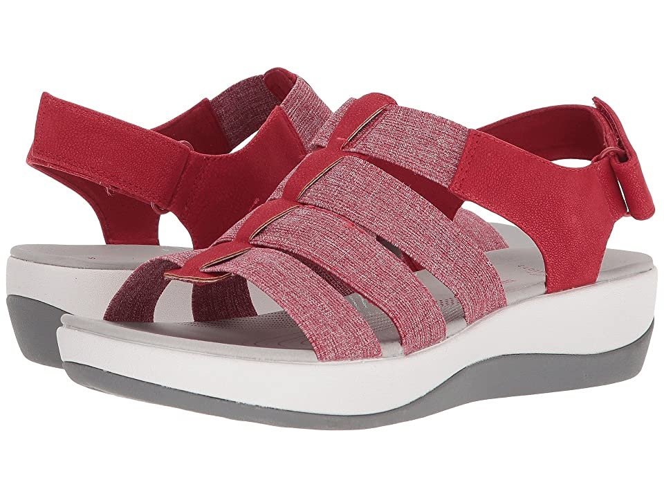 Clarks Arla Shaylie (Red/White Heathered Elastic) Women
