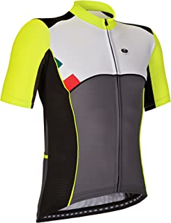 GSG Lavaredo - Men's Cycling T-Shirt with Zip - Quickdry Jersey - Yellow