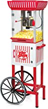 """Nostalgia PC25RW 2.5 oz Popcorn & Concession Cart, 48"""" Tall, Makes 10 Cups, with Kernel & Oil Measuring Spoons & Scoop, 13..."""