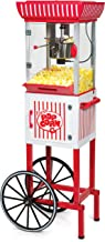 "Nostalgia PC25RW 2.5 oz Popcorn & Concession Cart, 48"" Tall, Makes 10 Cups, with.."
