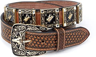 Genuine Leather Western Belt for Men And Women Rhinestones With Engraved Buckle For Cowboys and Cowgirls – Country Style