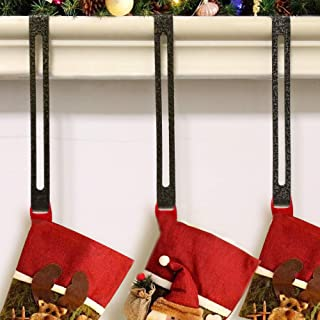 GLY 2019 Christmas Stocking Garland Holder Hook Hanger Fireplace Antique Gold and Silver Plating- 4 Pack