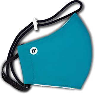 WEARK Mascarilla higienica reutilizable homologada 100% microfibra certificado 96 lavados funda interior para filtro y sis...
