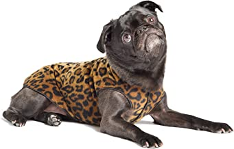 Gold Paw Stretch Fleece Dog Coat – Soft, Warm Dog Clothes, Stretchy Pet Sweater – Machine Washable, Eco Friendly – All Season – Sizes 2-33, Leopard, Size 6
