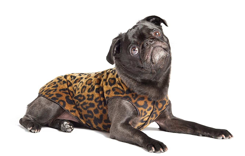 Gold Paw Stretch Fleece Dog Coat - Leopard
