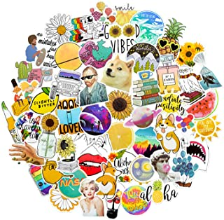 Nature Variety Vinyl Sticker 53 Pack | Perfect for Water Bottles, Phone Cases, Computers and Much More! | Waterproof & Easily Removable
