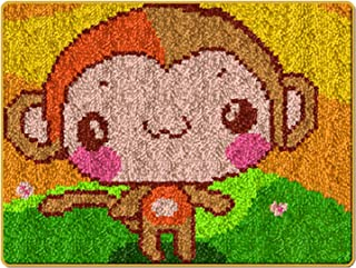 Latch Hook Rug Kits Monkey Carpet Tapestry Making Kits DIYRug Crochet Yarn Kits Embroidery Handmade Craft Kit for Adults ...