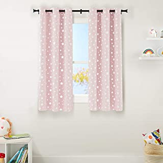 Amazon Basics Kids Room Darkening Blackout Window Curtain...