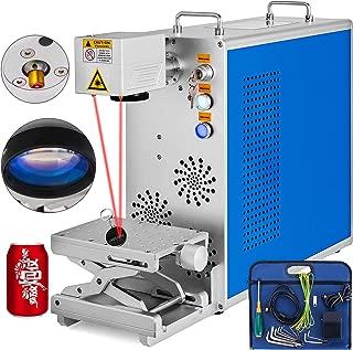 VEVOR Mini Fiber Laser Machine 20W Desktop Fiber Laser Machine 110 X 110 Mm Fiber Laser Engraving Machine with Laser Focusing Function Suitable Metals and Non-Metallic Support 32 Bit/64 Bit