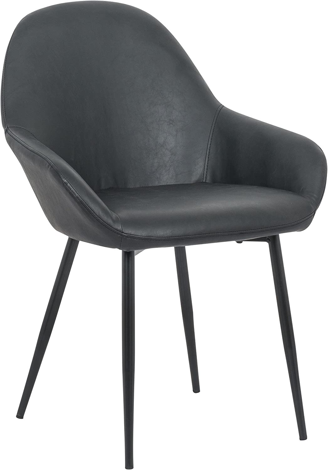 silver Import PDI-HY-7421-BL Clap Style Chair, Black