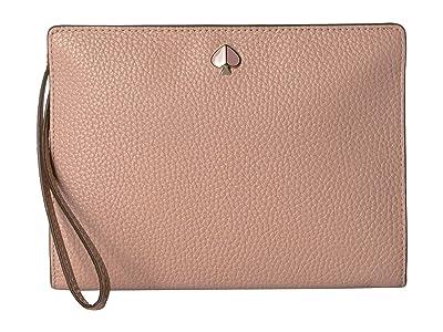 Kate Spade New York Medium Wristlet (Flapper Pink) Clutch Handbags