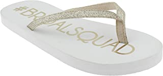 bride squad flip flops