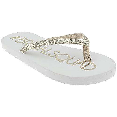 efd08b271b6c Capelli New York Ladies Fashion Flip Flops with Mrs. Print