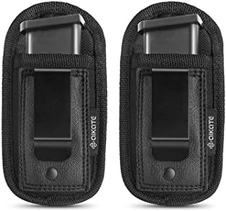 2 Pack Universal Magazine IWB Pouch Concealed Carry 9mm .40 .45 .380 .357, Mag Holster..