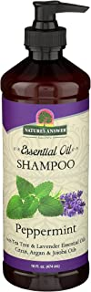 Nature's Answer Essential Oil Shampoo, Peppermint, 16-Ounce