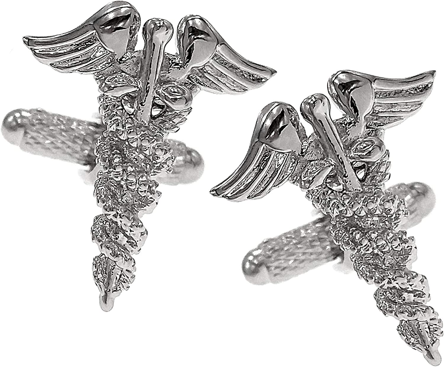 Thot Ra Caduceus Doctor Asclepius MD For Cufflinks Men Mod 897 A Ranking TOP4 Max 79% OFF