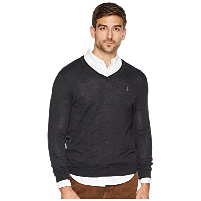 Polo Ralph Lauren Washable Merino V-Neck Sweater (Dark Granite Heather) Men