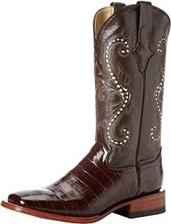 Men's Print Belly Alligator S-Toe Western Boot