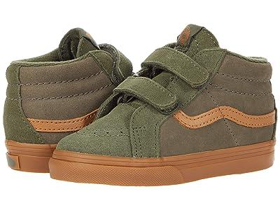 Vans Kids SK8-Hi Zip MTE (Infant/Toddler) ((Suede Gum) Grape Leaf/Canteen) Boys Shoes