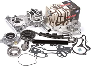 Evergreen TCK2000WOP Fits 85-94 Toyota 22R 22RE 22REC Timing Chain Kit w/Timing Cover, Water Pump & Oil Pump