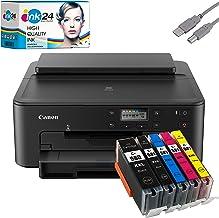 Canon PIXMA TS705 Tintenstrahldrucker schwarz + USB Kabel & 5 kompatible..