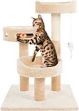 PETMAKER Cat Tree 3 Tier 2 Hanging Toys A 3 Ball Play Area and Scratching Post, 27.5
