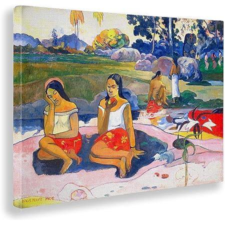 Paul Gauguin 50x70 cm Vari Formati Stampa su su Vetro Acrilico plexiglass Quadro Pronto da Appendere Paesaggio con pavoni Giallobus