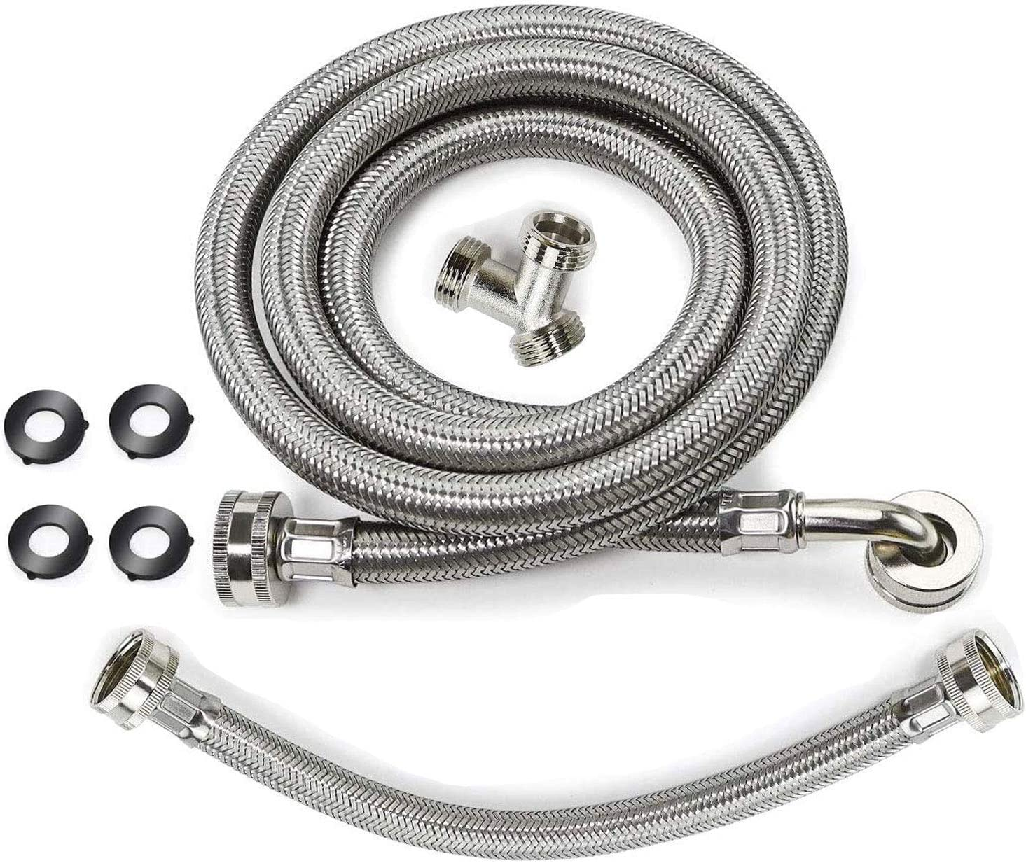 Sales Steam Dryer Miami Mall Hose Installation Kit Washer Stainless Steel Hoses -